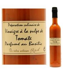"""Vinaigre à la pulpe de Tomate, parfumé au Bailic - 500ml - Maison """"Chez Popol"""""""
