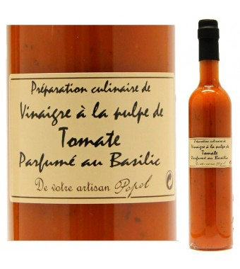 """Vinaigre à la pulpe de Tomate et au Basilic - Maison """"Chez Popol"""""""