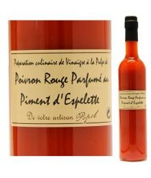 """Vinaigre à la pulpe de Poivron et Piment d'Espelette - 500ml - Maison """"Chez Popol"""""""
