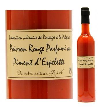 """Vinaigre à la pulpe de Poivron et Piment d'Espelette - Maison """"Chez Popol"""""""
