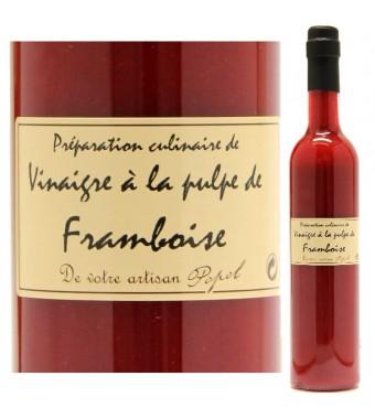 """Vinaigre à la pulpe de Framboise - Maison """"Chez Popol"""""""