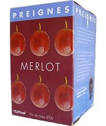 IGP Pays d'Oc - BIB 10L Tradition Merlot - Domaines Preignes Robert Vic